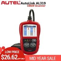 Autel AutoLink AL319 OBD2 Code Reader DIY Car Scanner OBD Auto Diagnostic Tool Automotriz Read and Erase Code pk AD310 ELM327