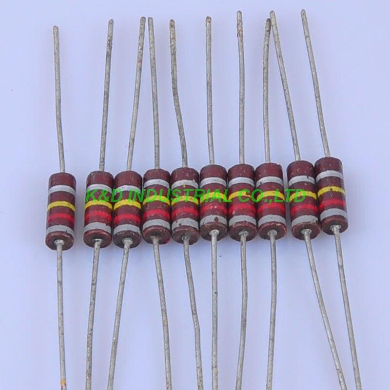 10pcs Carbon Composition Vintage Resistor 0.5W 820K 0.33ohm