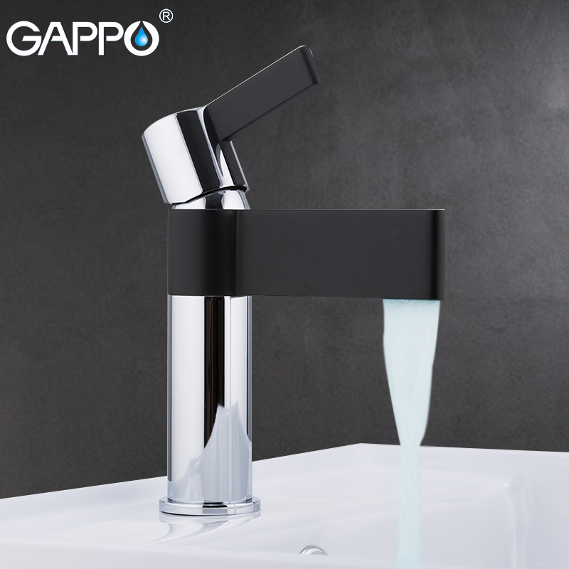 GAPPO Basin Faucets black and chrome mixer tap bathroom brass basin faucet sink mixer deck mounted
