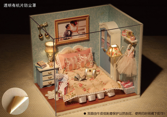 Doll Houses Play House Diy Gift Girlfriend Custom Birthday Girl Friend To Send Her Girlfriends Boyfriend Boy Is Novel Practical