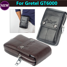 Aliexpress Hot for Gretel GT6000 Genuine Leather Carry Belt Clip Pouch Waist Purse Case Cover Mobile Phone Bag Free Shipping