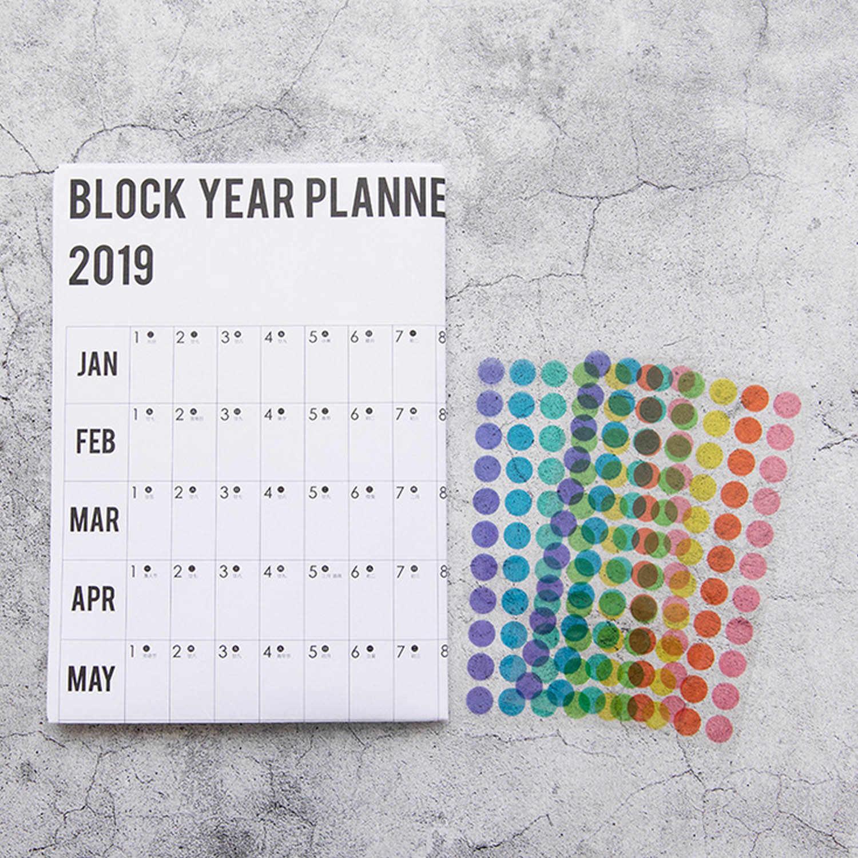 2019/2020 год ежедневник план настенный бумажный календарь w/2 листа EVA Mark наклейки для офиса школьные принадлежности 73x51,5 см