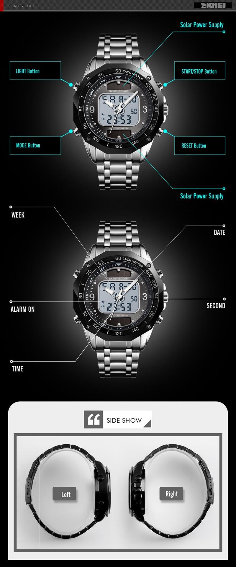 HTB1Qfd8UHPpK1RjSZFFq6y5PpXaT Solar Men Military Sport Watches Men's Digital Quartz Clock Full Steel Waterproof Wrist Watch relojes hombre 2019 SKMEI
