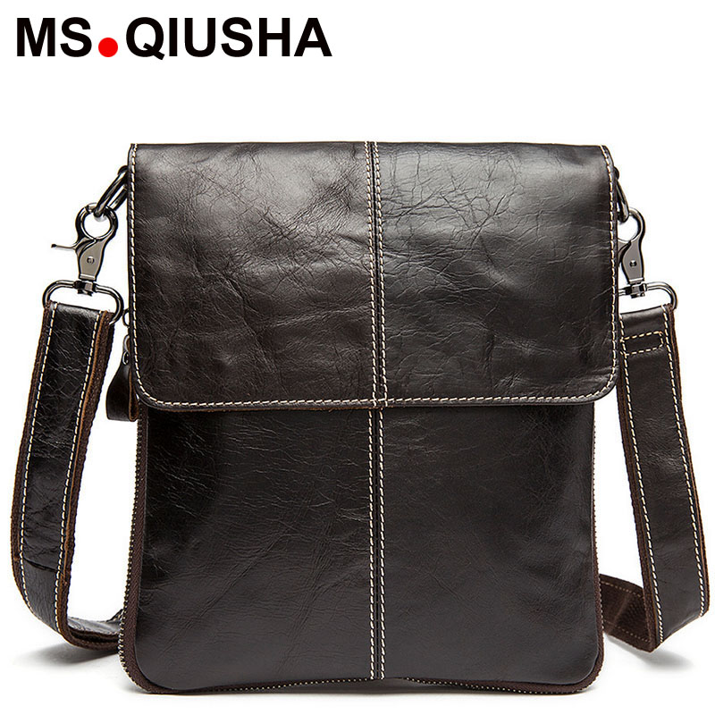 High quality men messenger bags fashion genuine leather bag Laptop Briefcase man crossbody bags casual business shoulder bags