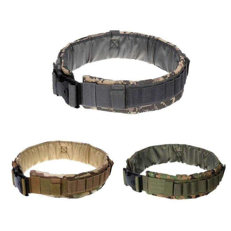 Champ de camouflage en nylon sangle Chasse 12/16 Jauge Munitions Ceinture Tir Cartouches Titulaire 24 Tours Gun Accessoires