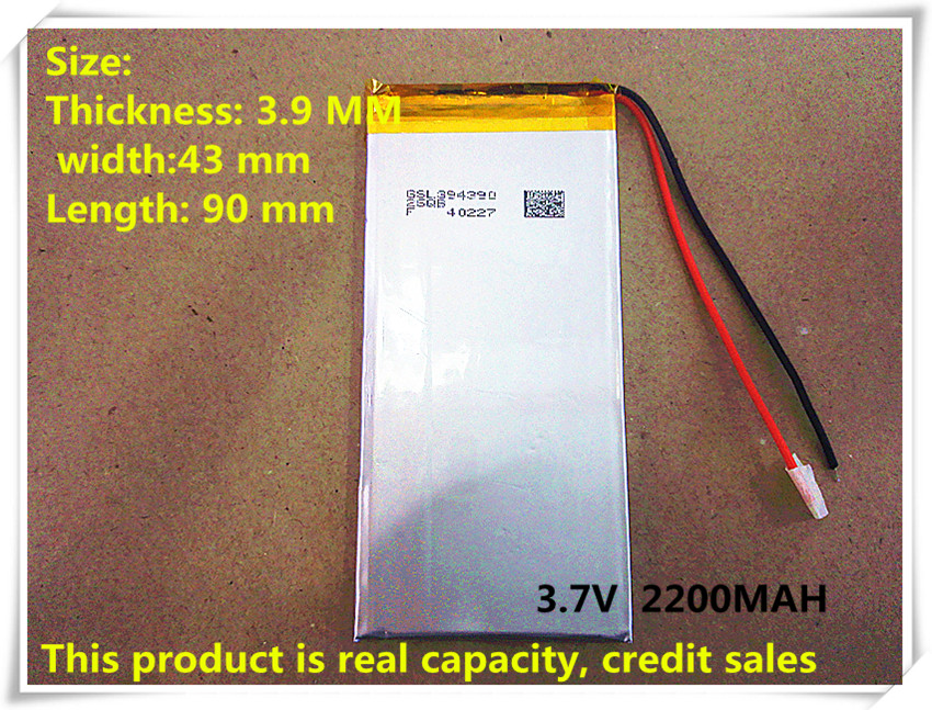 small handheld tablet machine learning, 394390, 404390, 2200 mah battery 3.7 V real capacity credit sales