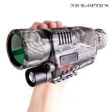 5X40 инфракрасный охотничий монокуляр ночного видения HD мощный телескоп Военная цифровая камера ночного видения большой дальности в темноте
