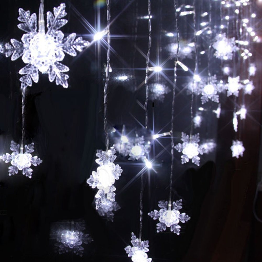 Aliexpresscom  Buy 4M 100 LED 18P Snowflake Curtain