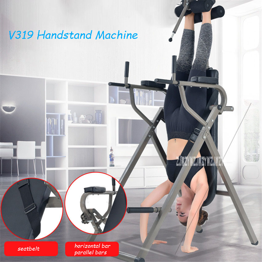 V319 Inversion Therapy Table Chin-Up Horizontal Bar & Parallel Bars Back Stretcher Machine Fitness Equipment Handstand Machine image