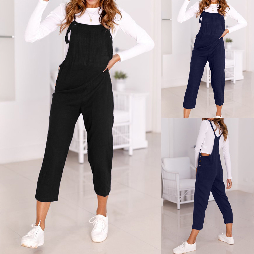 Bodycon Jumpsuit Trousers Rompers Clubwear Spaghetti-Strap Wide-Legs Summer And -Xb25