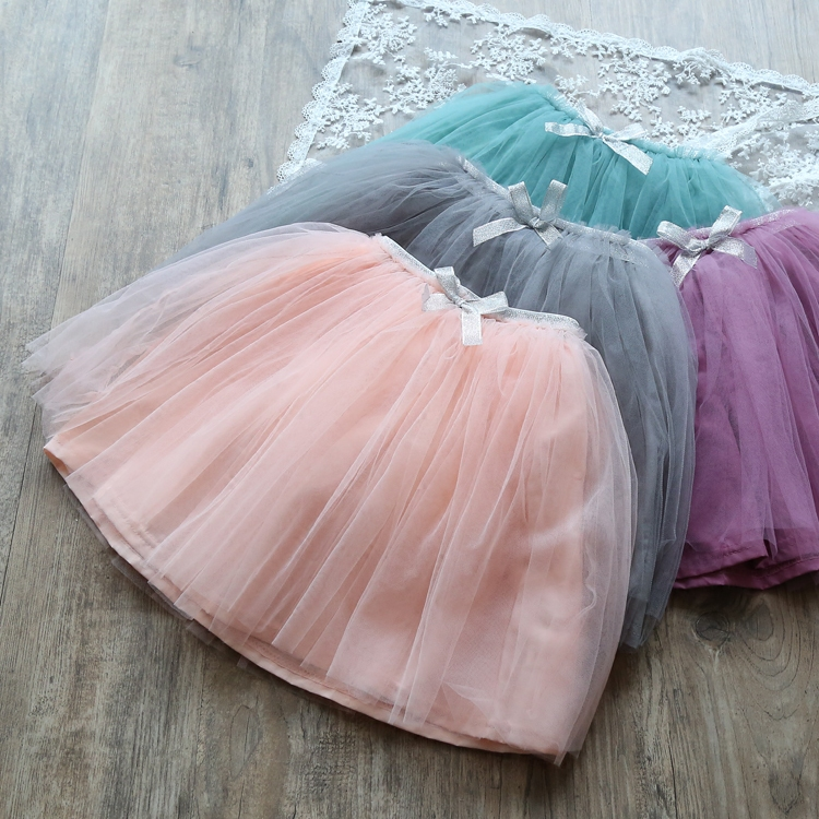 2018 summer girls tutu skirts baby ballerina skirt childrens chiffon fluffy pettiskirts kids hallowmas casual candy skirt