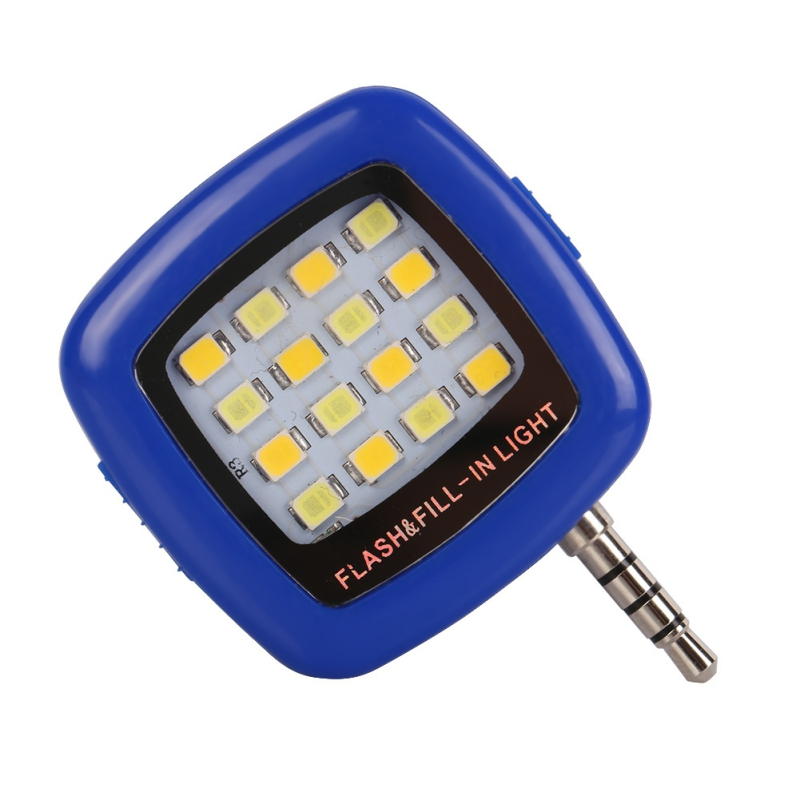EDAL 16 Leds LED Flash Mini 3 Colors Portable Fill Light For iPhone For IOS For Android Smartphone