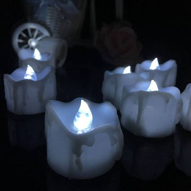 white flashing led electric candle lights battery operated flameless candles tea for christmas halloween wedding decor
