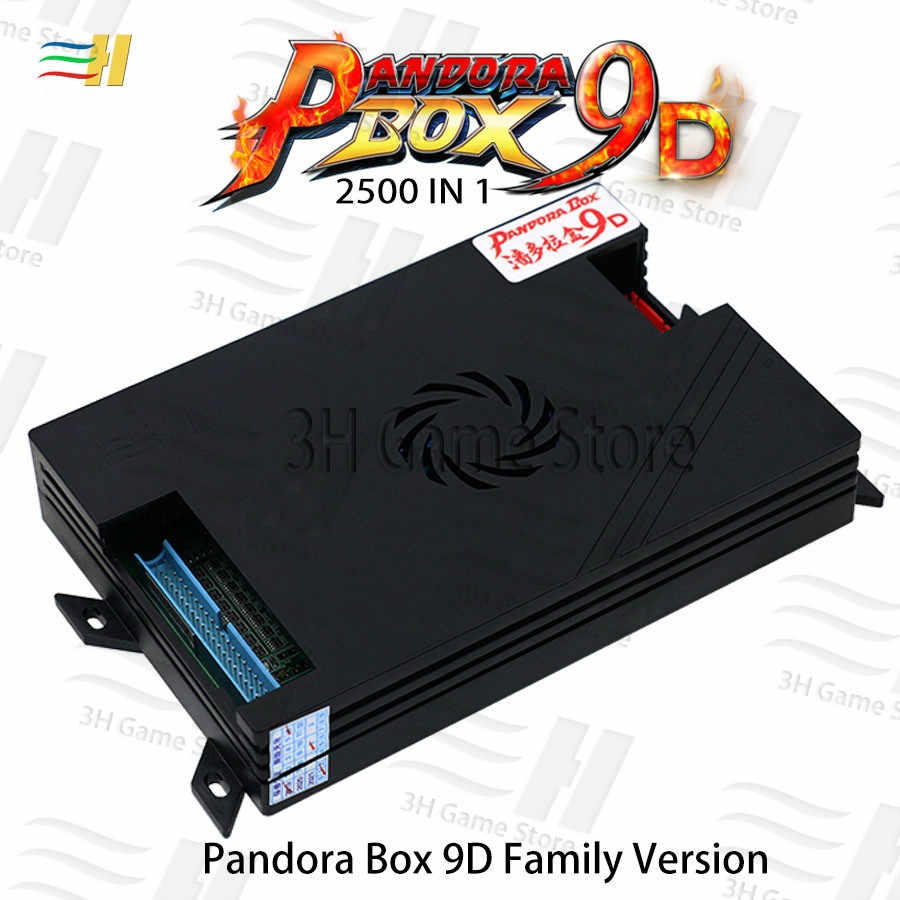 2019 판도라 박스 9d 2500 1 패밀리 버전 보드 지원 콘솔 아케이드 기계 용 3d 게임 3P 4P 게임 usb 연결 게임 패드
