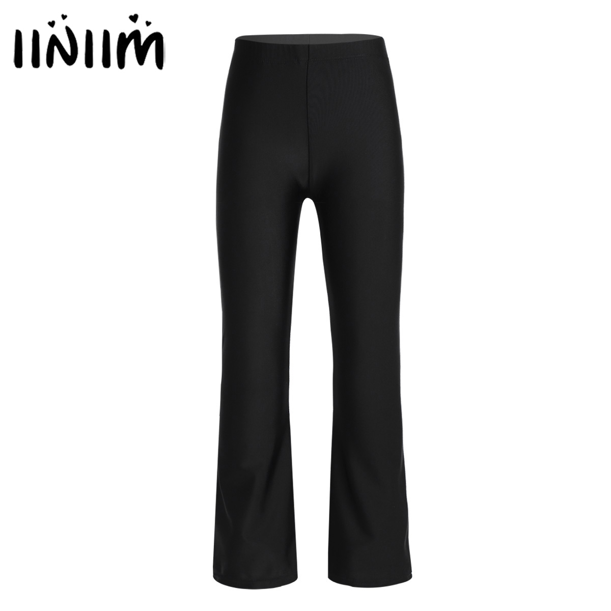 Iiniim Kids Girls Classic Dance Wear Stretchy Loose Pants Dancewear For Jazz Dance Gymnastics Leotard Costumes Pants