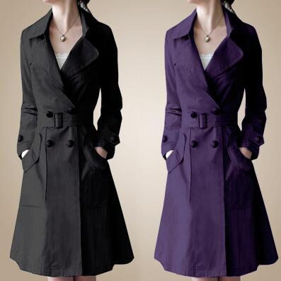 Autumn coats women trench coat 2016 new fashion Atmospheric ladies Slim double-breasted trench coat
