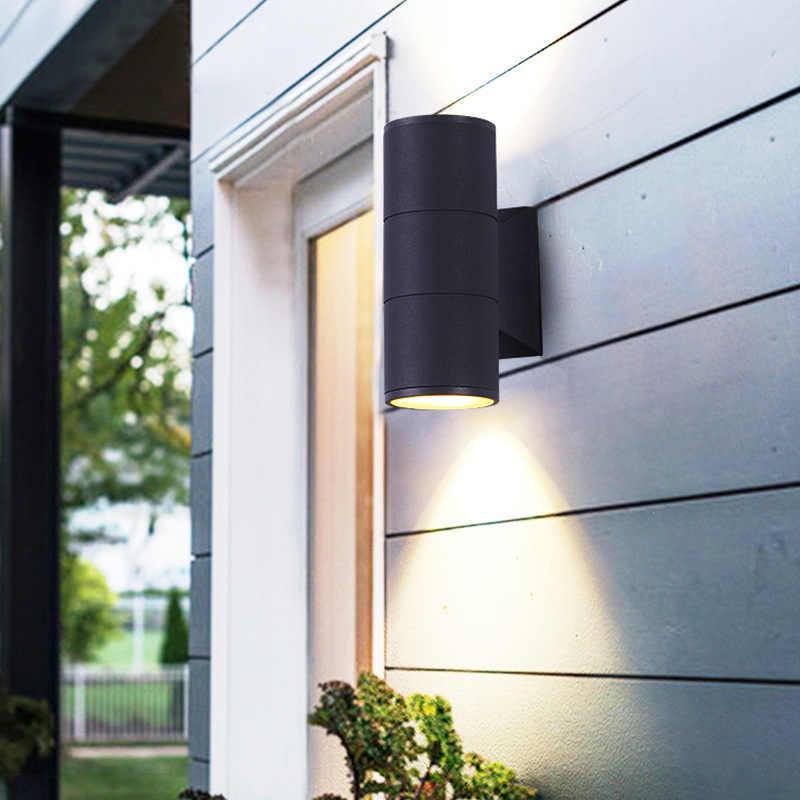 С крышкой вверх/вниз светодиодный наружное освещение Настенный светильник лампа Внешний Вне крыльцо свет Водонепроницаемый IP65 сад настенное бра Buitenverlichting