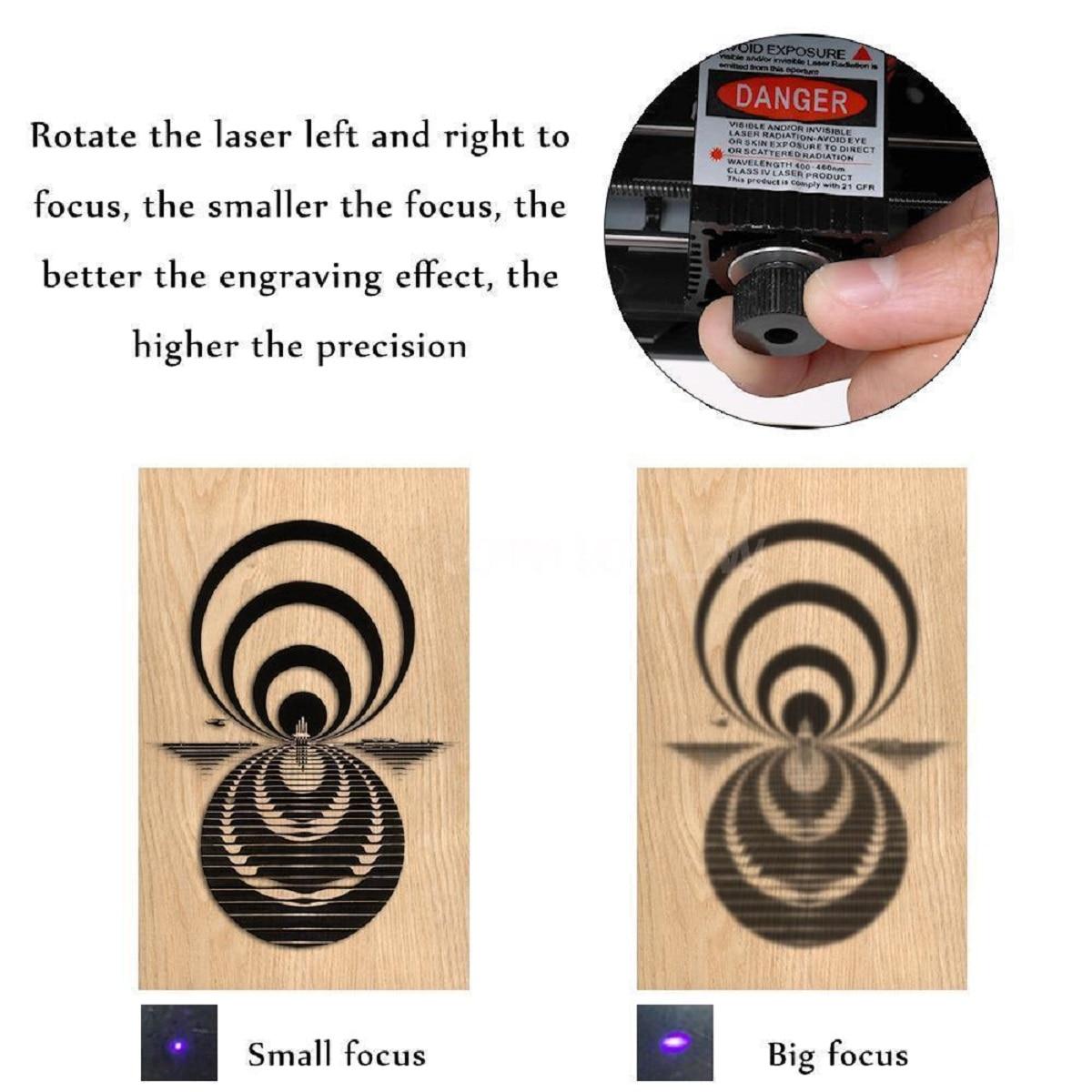 3000mW CNC Laser Carving Maschine DIY Carving Stecher Kompakte Desktop Laser Gravur Maschine Logo Mark Drucker