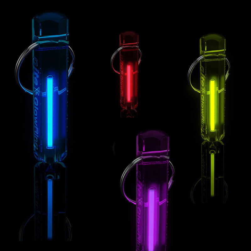 Lampu Otomatis Tritium Gas Lampu Self Luminous Kunci Ring Life Saving Lampu Darurat untuk Outdoor Safety dan Alat Bertahan Hidup