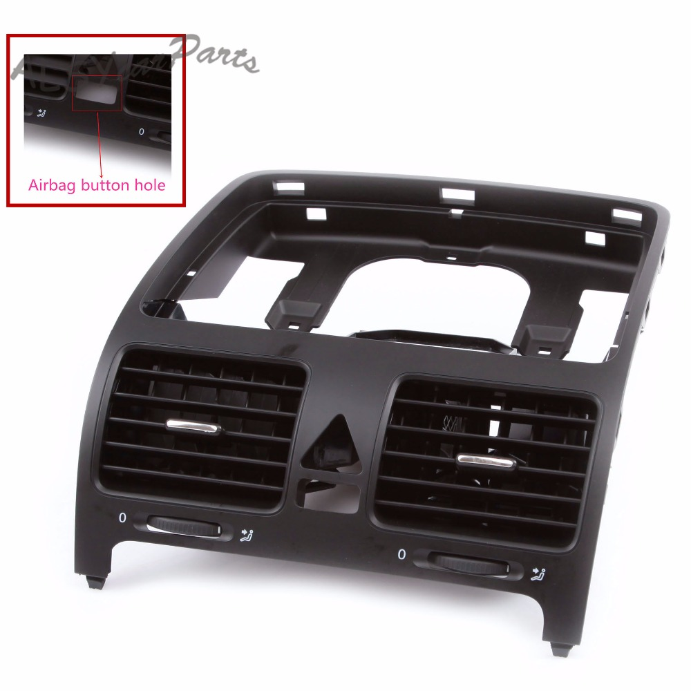 KEOGHS OEM 1K0 819 743 B Black Front Central Dashboard Air Outlet Vent For VW Jetta MK5 Golf / GTI 5 MK5 Rabbit 1K0 819 728 F new oem vw jetta golf mk5 gti rabbit front fog lights lamps 1t0941699 1t0941700 2005 2009