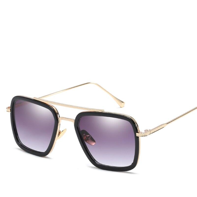7c9cc4daed Avengers Infinity War Tony Stark Sunglasses Luxury Brand Iron Man Glasses  Rectangle Vintage transparent Superhero Sun Glasses -in Sunglasses from  Apparel ...