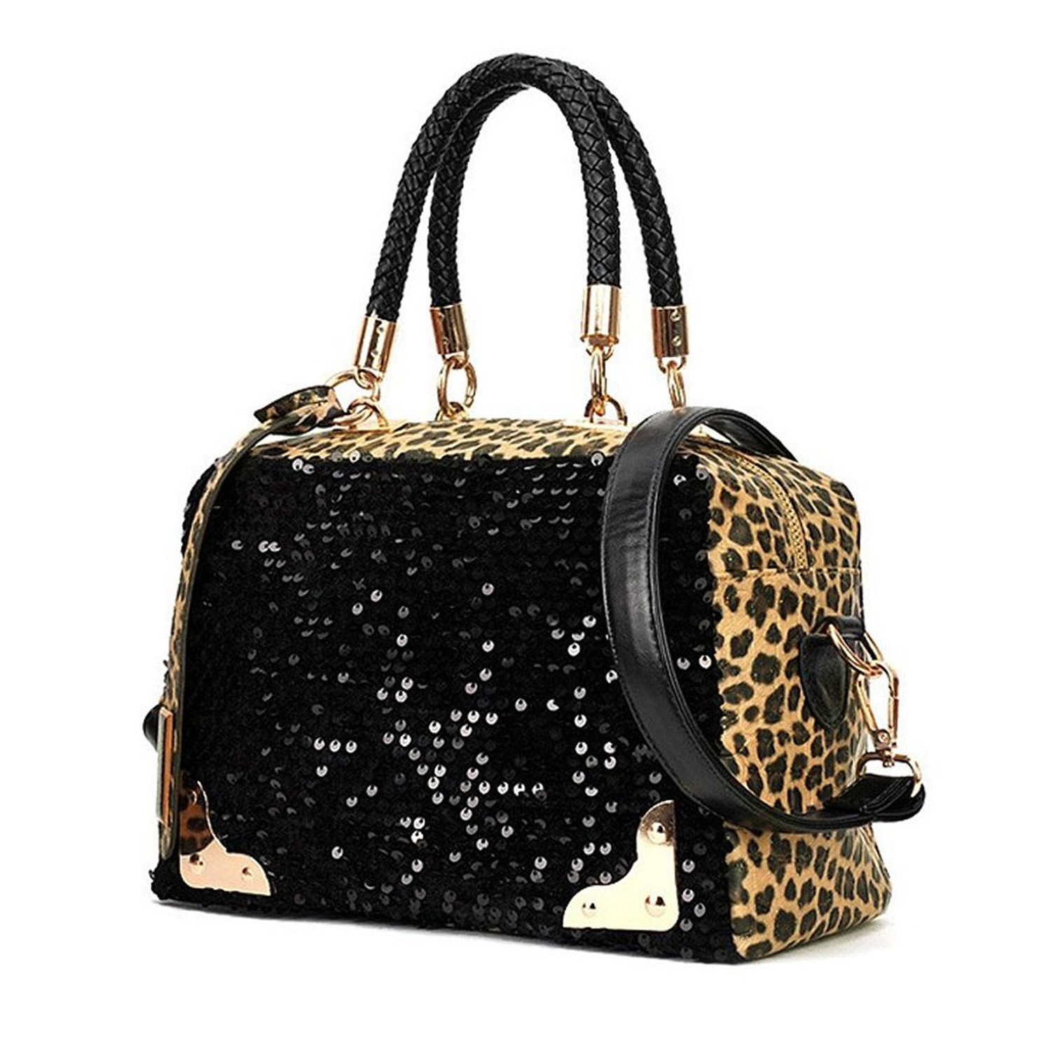 Tftp Casual Women Handbag Pu Leather Leopard Print Paillette Sequin Shoulder Bag In Bags From Luggage On Aliexpress Alibaba Group