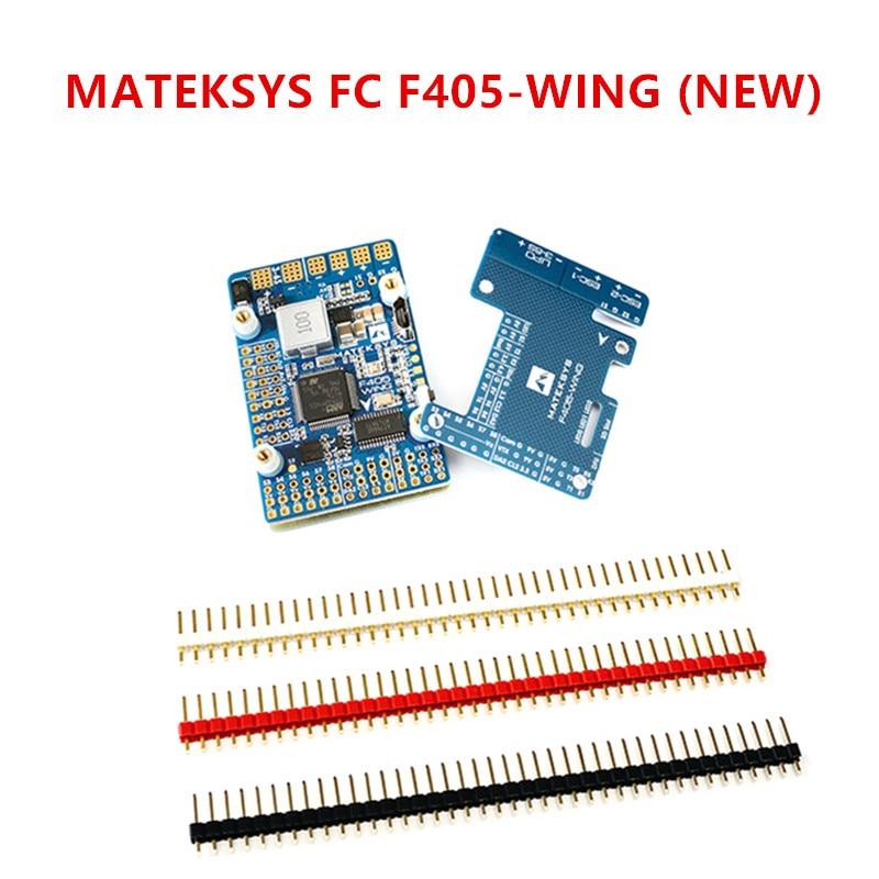 MATEKSYS Flight Controller F405-WING STM32F405RGT6 BMP280 Barometer MicroSD BlackBox Softserial 7 Servos 4 BEC & Current Sensor