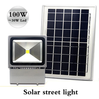 Solar cast light 100W brightness solar LED floodlight district road lighting site lamp lights Smart lights