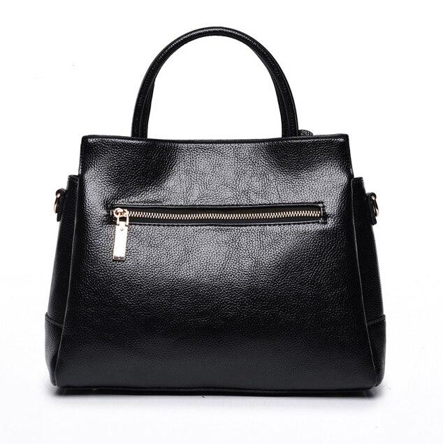 17bfb300ae18f Ecosusi kobiet torebki skórzane torby luksusowe torebki damskie torebki  stylowe panie torebka jednolity czarny torba na ramię bolsa feminina w  Ecosusi ...