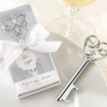 Hot Sale Vintage Key Shape Beer Bottle Opener Wedding Party Favor Decor Bridal Shower Gift 80 PCS Free shipping