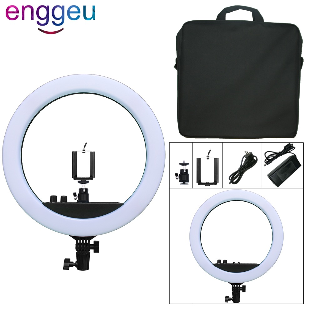 Camera Photo Studio Phone Video 48W 180PCS LED Ring Light 3000/5500K Bicolor 12 Photography Dimmable Makeup selfie annular lamp fotopal 55w 5500k daylight led ring light lamp for photography camera phone video photo make up selfie light annular lamp