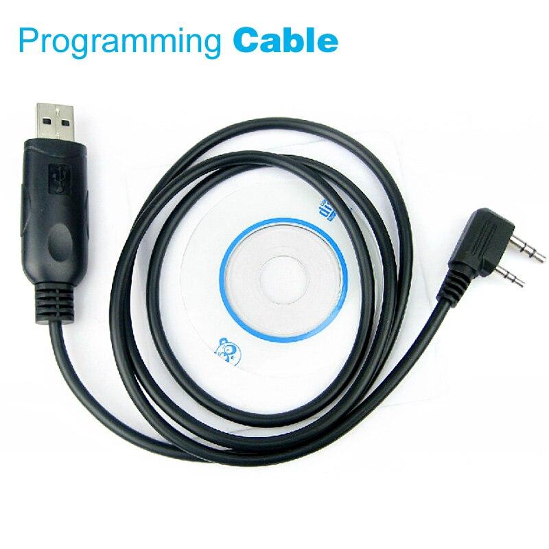 UV5R USB Programming Cable For Baofeng UV-5R BF-888S H777 KENWOOD TK3207 TK-3107 Walkie Talkie Two Way Radio 2 Pin