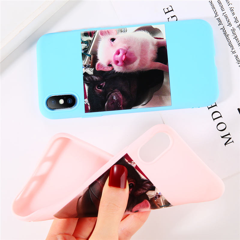 Cute Pig Printed Silicone Phone Shell For iPhone 11 Pro SE 2020 X XR XS Max 6 6s 7 8 Plus 5s SE 2