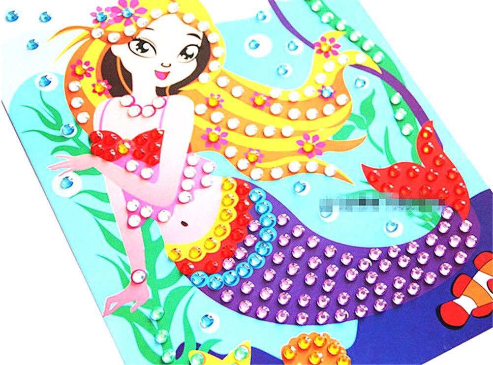 Cartoon Diamond Coloring Drawing Sticker Handmade DIY Toy Sets Painting Graffiti Education Gift For Children Birthday