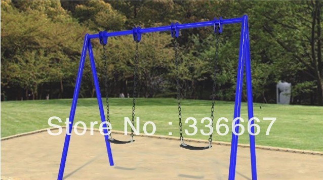 Hot Sale Two Seats Garden Swing Set For Park Use