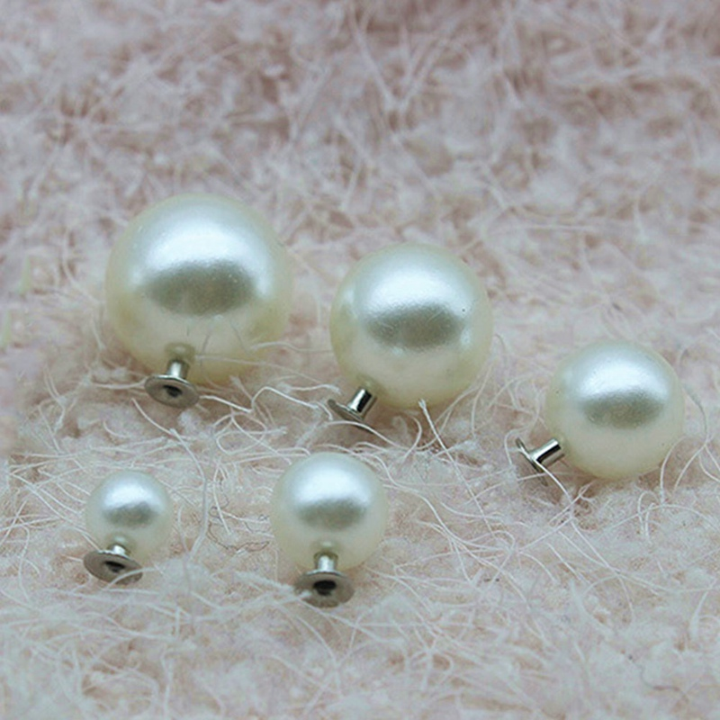 Decorations Shoes Rivets Crafts Pearls Silver DIY for Bag Ivory And Studs-6/8/10-/.. title=