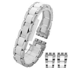 19 * 17mm Ceramic with Stainless Steel watchband for Swatch YLS141GC YLG128G LK292G Special end watch bands Straps Bracelet