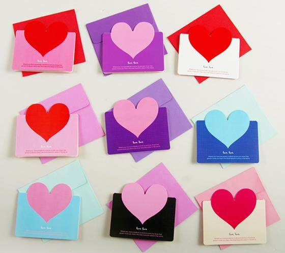 Online shop 60pcs heart wedding guest card folding type write paper 60pcs heart wedding guest card folding type write paper greeting card birthday party cute mini invitation card with envelope bookmarktalkfo Image collections