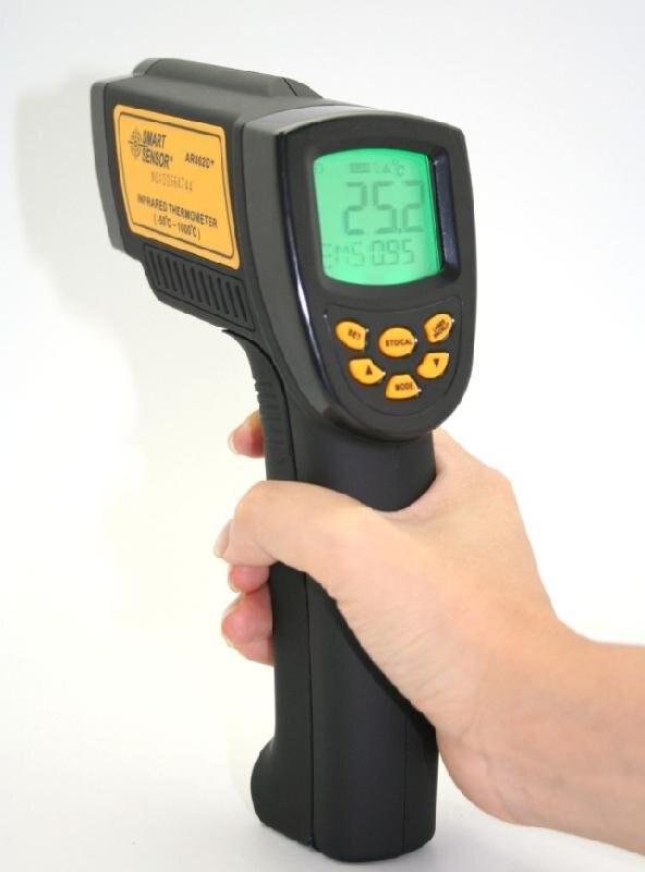 AR862D+ цифровой Бесконтактный ИК инфракрасный термометр(-58~ 1832f/50C~ 1000C) Температура метр