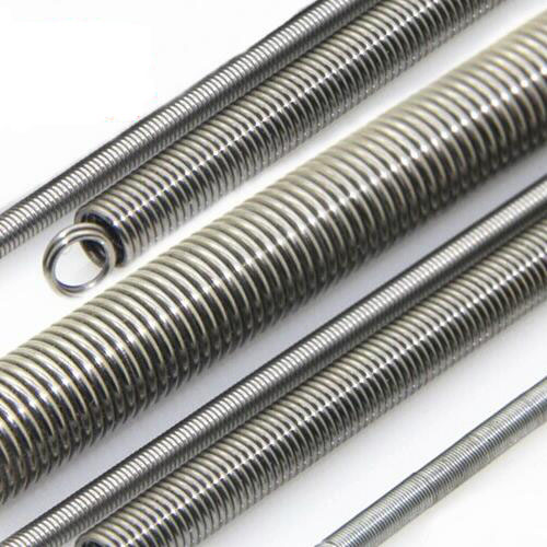 Tension Spring 2pcs stainless steel spring extension for sales, 1.0mm wire diameter x (6-12)mm out diamter 300mm length