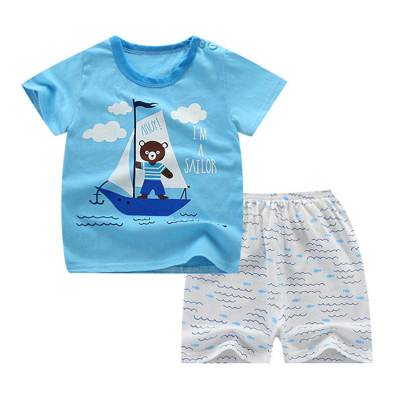 Baby Boys Clothing Sets Baby Summer Products Bbebe Cotton Tops +shorts 2 Pcs Suit Infants For Baby Clothing Children Clothes