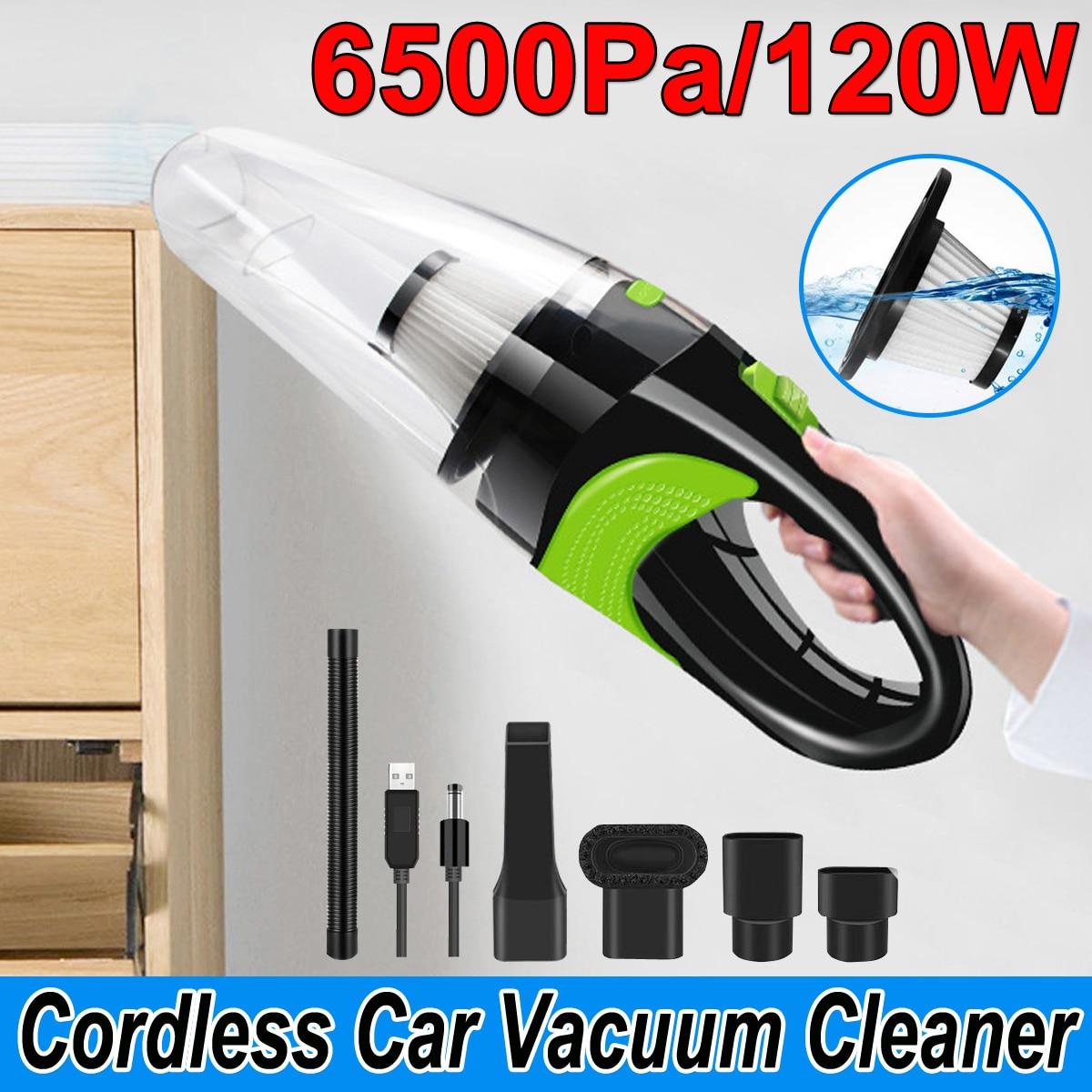 6500pa forte puissance voiture aspirateur DC 12V 120W sans fil humide et sec double usage Auto Portable aspirateurs nettoyeur pour le bureau à domicile