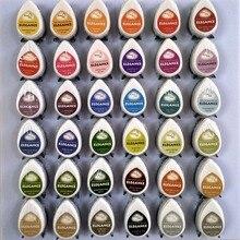 Tampon dencre en pigments à séchage rapide, en forme de goutte, pour la décoration, lestampage, le scrapbooking, 10 pièces/lot
