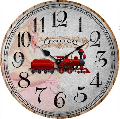 Mejor dise o 30 cm vintage francia coche de dibujos - Relojes rusticos de pared ...