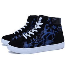 New mens casual shoes Korean plate tide black and white movement outdoor Sneakers spring autumn