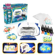New Arrival DIY 3D Magic Machine Printer Enlighten Painting Draw With Speed And Temperature Controls Great