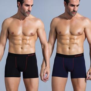 Image 2 - SRBONIOTOS ماركة 4 قطع الرجال الملابس الداخلية الرجال الملاكم ملابس داخلية قطنية الذكور الملاكمين Cueca 365 السروال الرجال سراويل داخلية