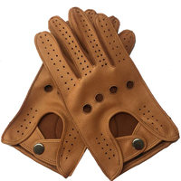 Free Shipping Men Spring Genuine leather 100 percent Thin Gloves Male Soft Leisure Black/Brown Hollow Out Holes Locomotive Luvas