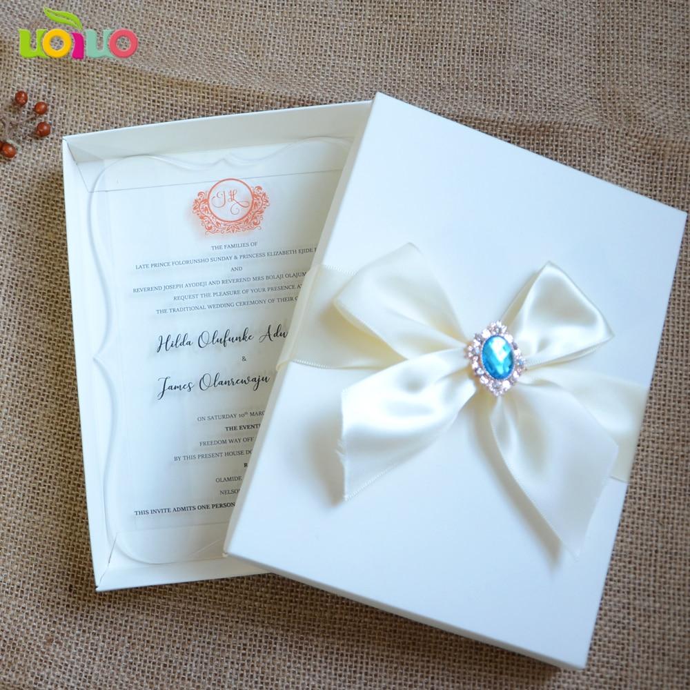 Unique Wedding Invitations In A Box: Acrylic Wedding Invitation,custom Acrylic Wedding