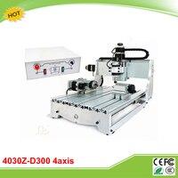 CNC 4030Z D300 4 Axis Mini CNC Router Engraving Machine